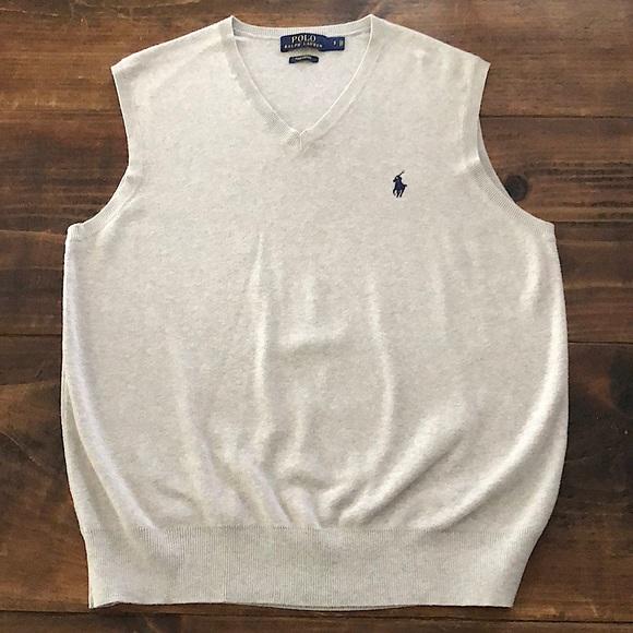 Men's small polo sweater vest
